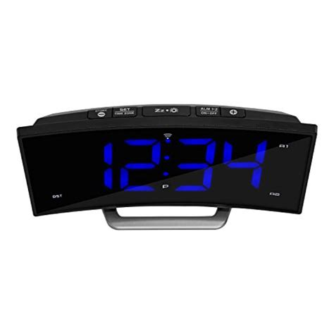 la crosse technology 617 249 1 8 quot curved blue led atomic dual alarm clock 691202782704 ebay