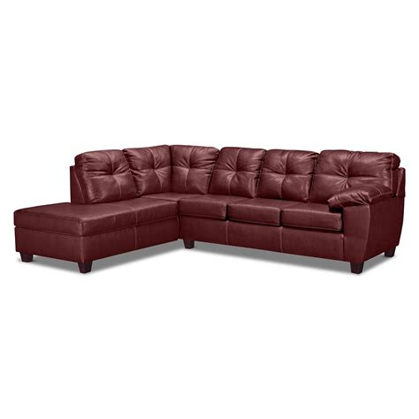 Sofa Sleeper With Chaise Rialto Ii Leather 2 Pc Sleeper Sectional With Chaise Value City Furniture