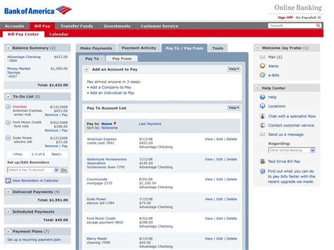 Banks Pays Lunch Bill by Pay Bills With Bank Of America Safebillpay Net
