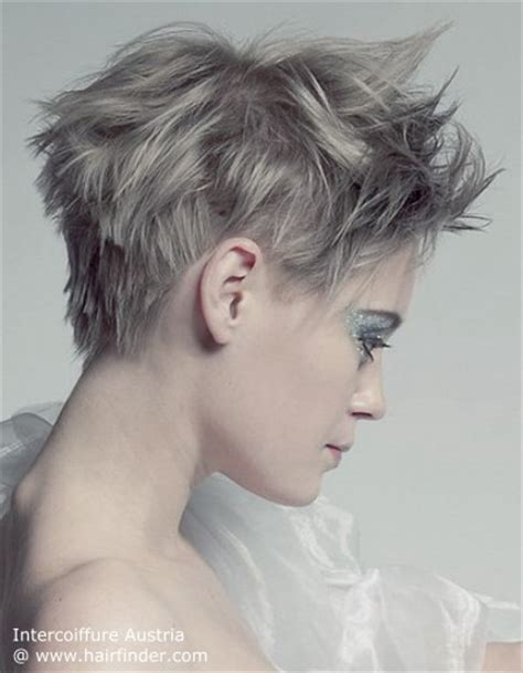 how to get body on short gray hair with a perm chopped and feathery short hairstyle silver gray hair color