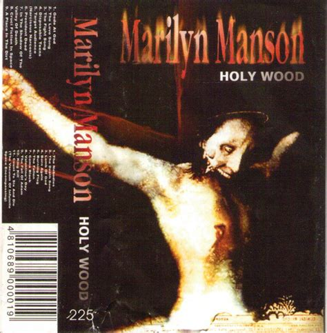 marilyn manson holy wood cassette discogs