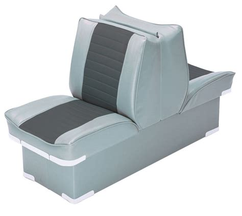 wise marine lounge seats back to back lounge seat deluxe plus gray charcoal wise