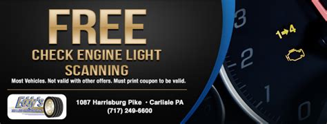Free Check Engine Light by Tires Coupons Carlisle Pa Mechanicsburg Pa Shippensburg