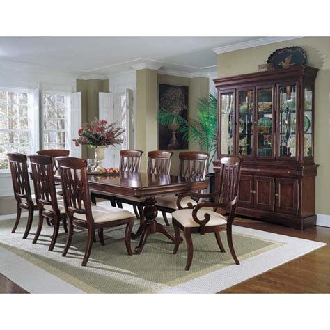 universal furniture dining room double pedestal table 461658 tab universal furniture avignon double pedestal table