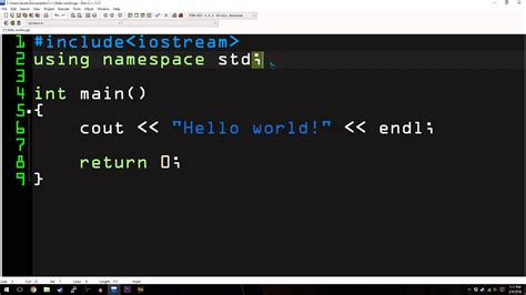 hello world c tutorial 1 hello world
