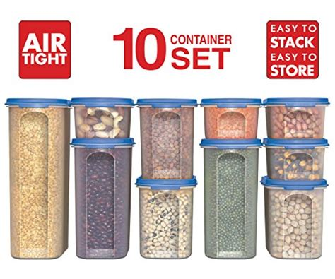 Airtight Pantry Storage Containers by 10 Pcs Food Storage Container Airtight Lids Durable