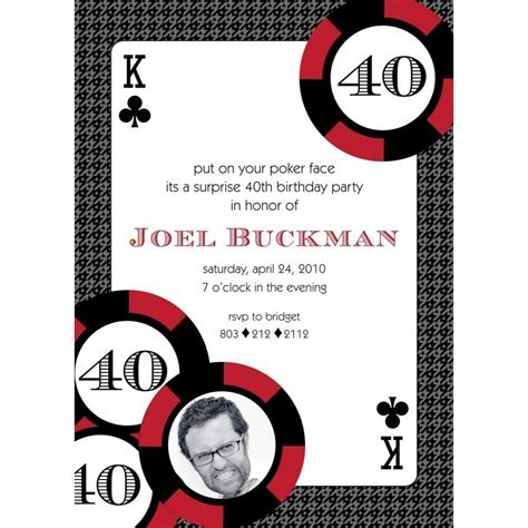 casino birthday card template casino invites for