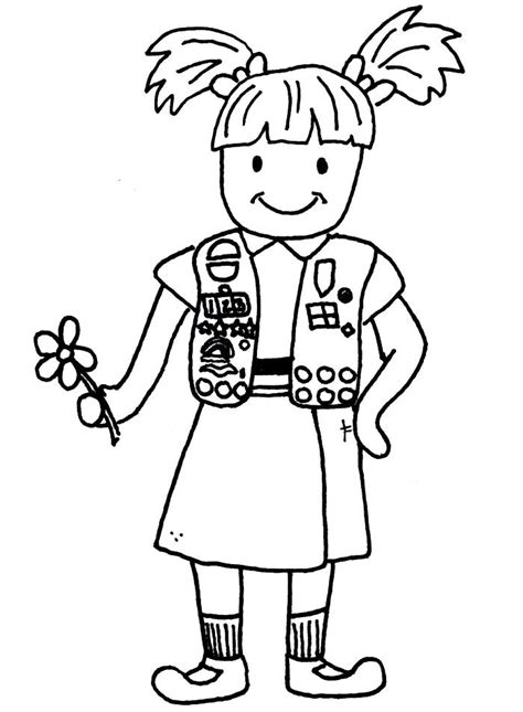 Girl Scout Brownie Clip Art Cliparts Co Scout Brownie Coloring Pages