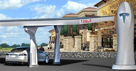 tesla charging stations tesla s superchargers let model s owners travel long