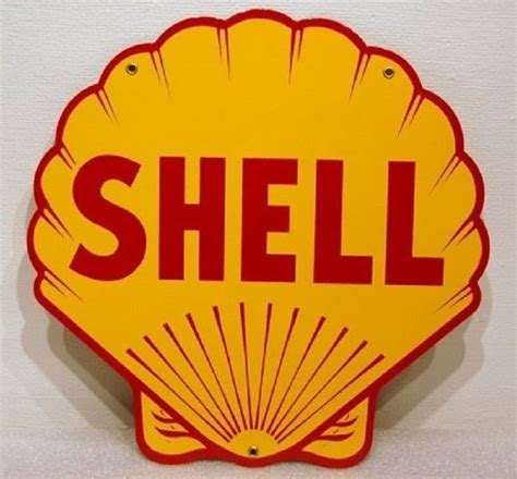 Shell Garage Gift Cards - shell gasoline heavy metal sign ebay