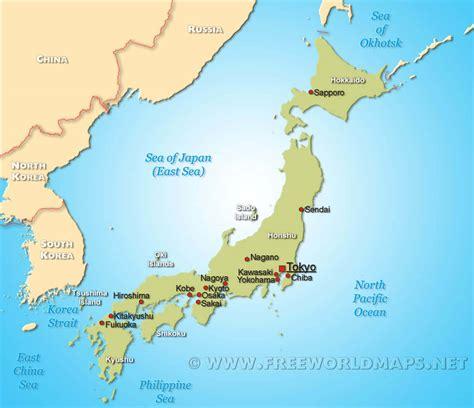 political map of japan japan map