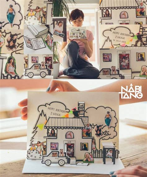 Nabi Gift Card - diy pop up birthday card by nabi tang by nabi pinterest diy birthday cards