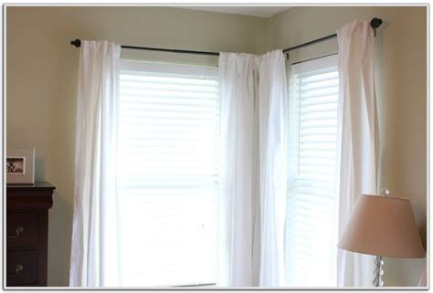 Curtain Rod For Corner Windows Inspiration Best 25 Corner Window Curtains Ideas On Corner Curtain Rod Corner Curtains And