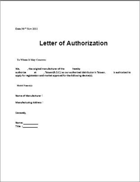 Authorization Letter With Reason Sle Authorization Letter To Terminate Service Termination Service Contract Letter Sle