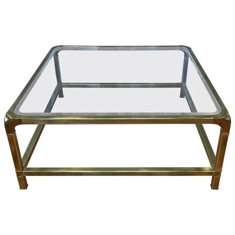 large square craft table mastercraft large square brass and glass coffee