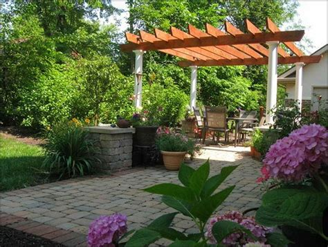 Garden Ideas For Patio Beautiful Backyard Patio Landscaping Ideas Home And Real Estate Pinterest Backyard Patio