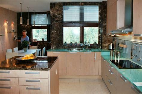 gl küchengestaltung k 252 chenplatte aus glas eine kombination