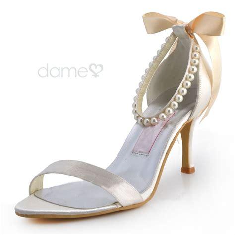 peep toe satin braut strass braut sandalen wedding shoes
