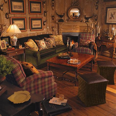 lodge living room furniture ideas for a big game trophy room have five big game