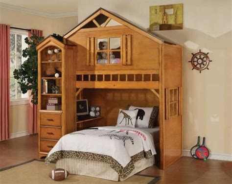 Bunk Bed With House Bedroomdiscounters Loft Beds Workstation Beds Tent Beds