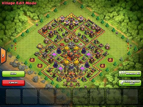 home base th 9 terbaik november 2016 cara formasi base coc clash of clans terkuat th 11