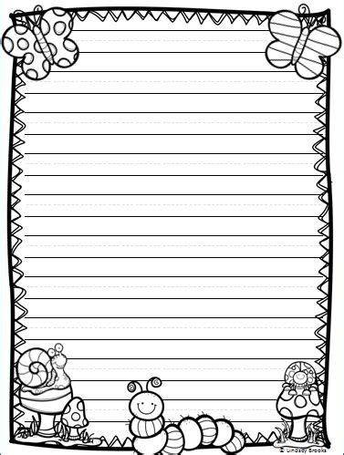 summer writing paper template all the writing paper styles you need for and