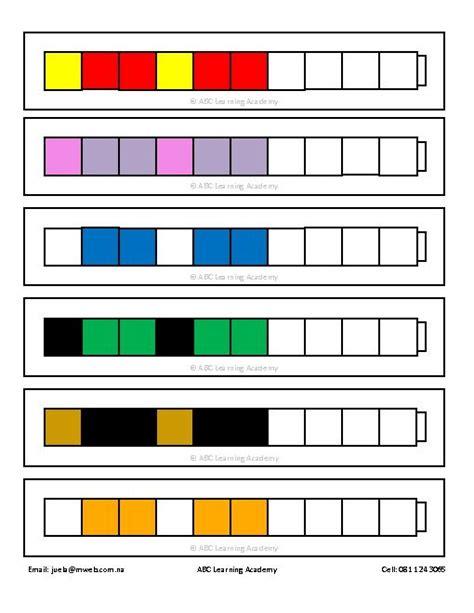 sentence pattern blueprint cards teacherlingo com 4 50 unifix cubes pattern cards