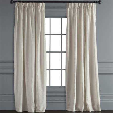 pinch pleat linen drapes signature linen pinch pleat drape ivory williams sonoma