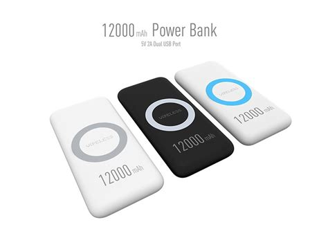 power bank quality high quality 12000mah wireless power bank portable charger