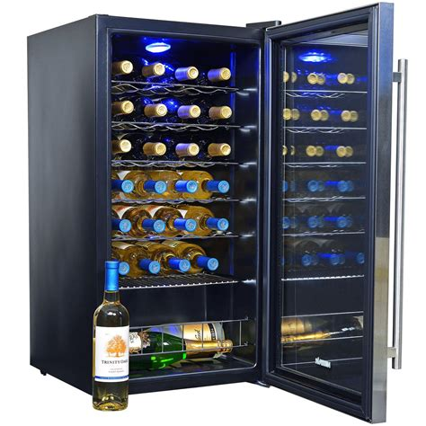 build your own refrigerated wine newair awc 270e 27 bottle wine cooler with compressor