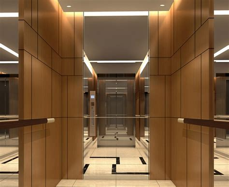 Minimalistic Bedroom by Minimalistic Hotel Elevator Hall Design 3d Rendering