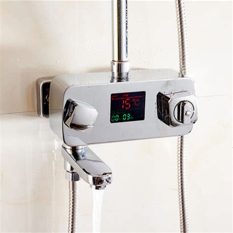 Thermostatic Faucets by Thermostatic Shower Faucet Mixer Tap With Display Bathroom