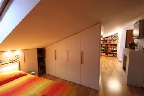 armadio divisorio open space in mansarda