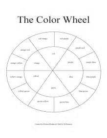 blank color wheel template blank color wheel chart free
