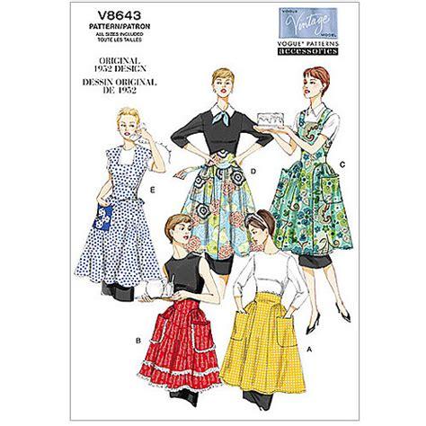 vogue pattern apron vogue pattern aprons all sizes walmart com