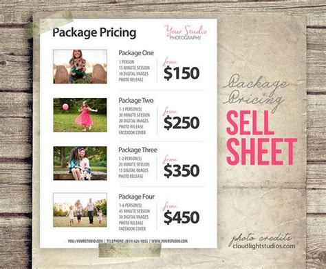 templates for photographers price list template photography pricing list sell