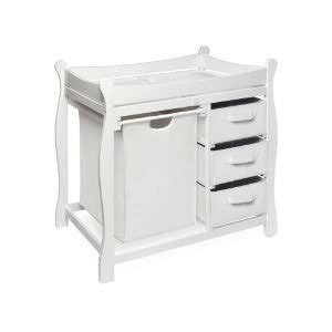 White Sleigh Changing Table Badger Basket Company Sleigh Style Changing Table With Her 3 Baskets Le Storage White