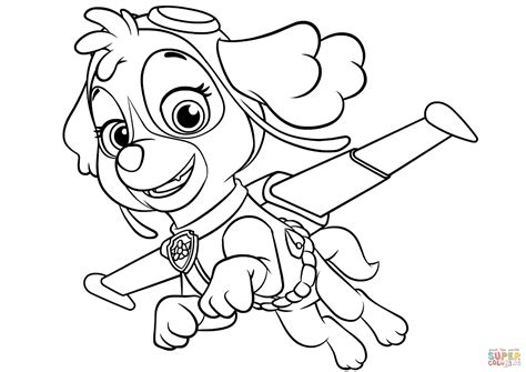 paw patrol coloring pages sky www imgkid the image