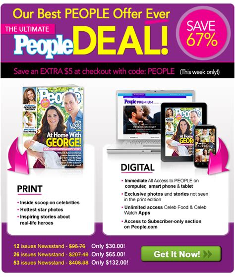 save 67 on people all access the magazine s new print plus digital subscription magazines