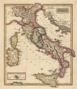 antique map of italy c1817 by fielding lucas by