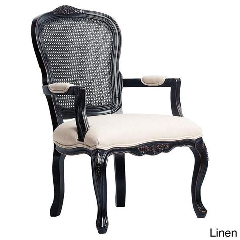 Black Accent Chair by West Indies Rubbed Black Accent Chair