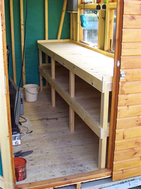 shed benches iow economy sheds and garden stores ranges optional extras