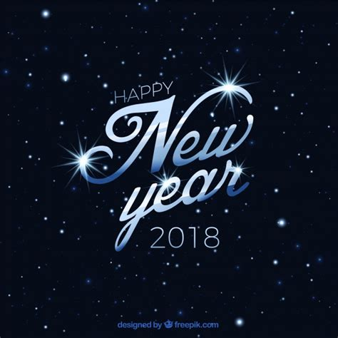 new year earth 2018 background of happy new year 2018 with