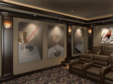 home theatre design concepts decorative acoustic panels home theater acoustic wall art