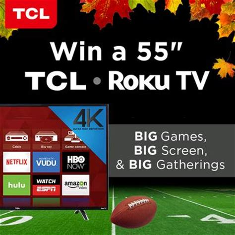 Free Tv Sweepstakes - ends tonight 55 tcl roku tv giveaway ends 11 25 the frugal free gal