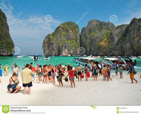 mass tourism  thailand editorial image image  coast