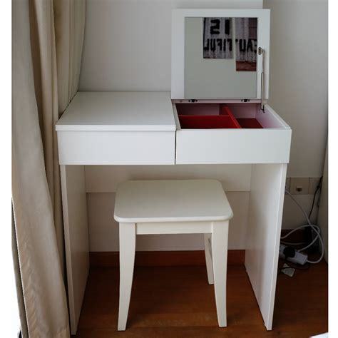 brimnes dressing table white ikea brimnes white dressing table complete with an