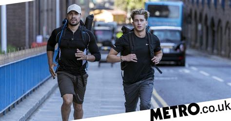 celebrity hunted 2018 who escaped strictly s aj pritchard honours late friend in stand up to