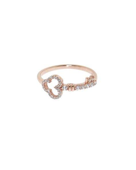 gold pave key ring fashion key