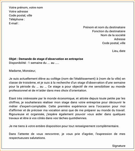 Lettre De Motivation Stage Avocat 8 Lettre De Motivation Pour Stage De 3eme Exemple Lettres
